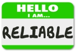 Reliable Name Tag Sticker Dependable Worker Team Member Person